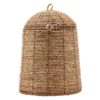 Curious Egg Belize Tall Dome Lidded basket - cutout image of the basket on a white background.