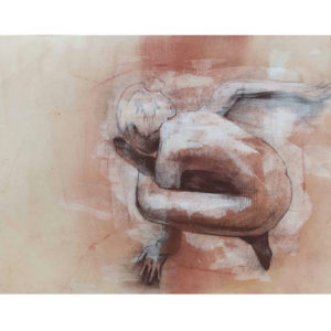 Emergence #4 - Mixed media original on paper by Kane McLay at Curious Egg