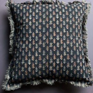 scandi style black patterned cushion