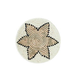 natural woven bowl grass with star motif