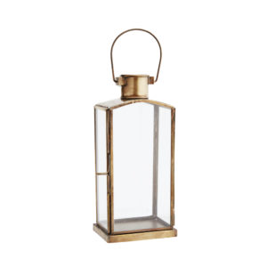 Brass and glass outdoor lantern