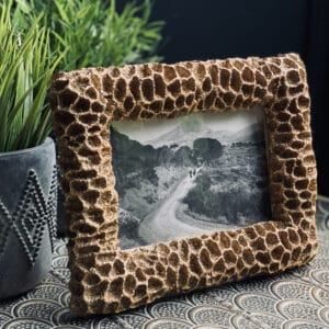 faux coral gold photo frame