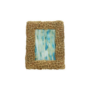 faux gold coral photo frame
