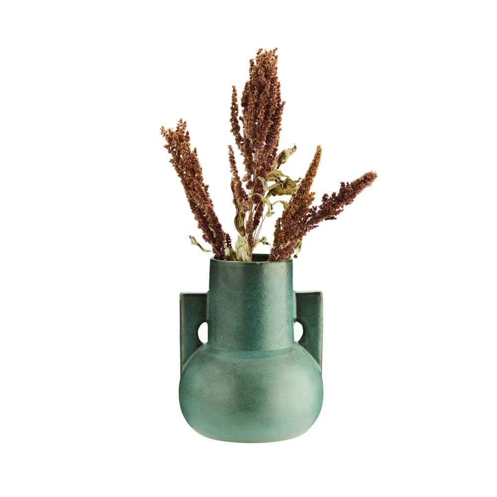 Macario Turquoise Jug Vase cut out 2 with grasses for web