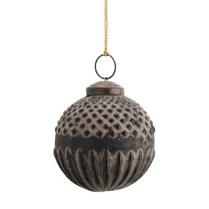 Curious Egg Antiqued Bronze Finish Hanging Bauble