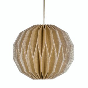 Curious Egg Gold Origami Ball Decoration