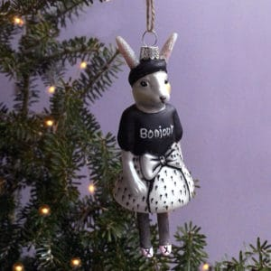 Bunny dressed in french outfit Christmas decoration