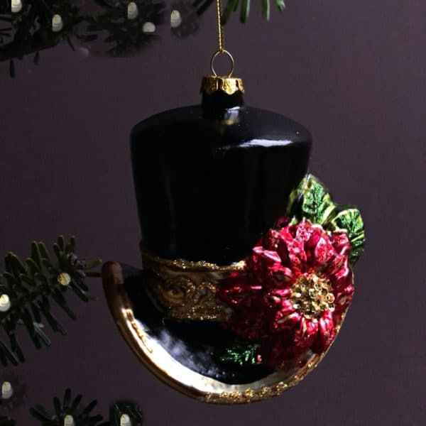Top hat Christmas decoration