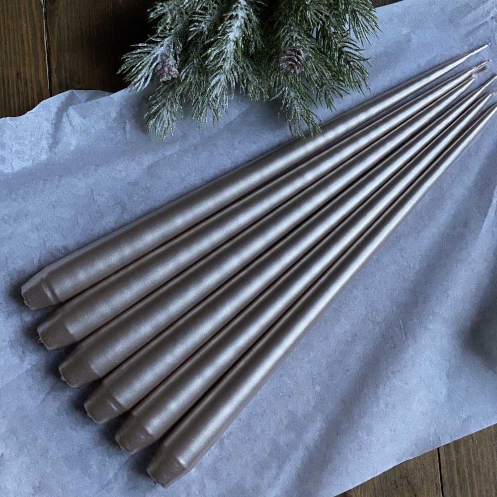Hand Dipped Taper Candles - Champagne (6 pack)