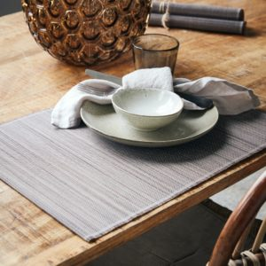 Curious Egg Bamboo Placemat in Mocha colour lifestyle image