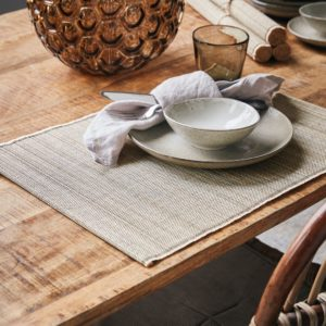 Curious Egg Bamboo Placemat in Natural colour lifestyle image