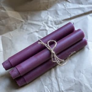 Dark Mulberry Rose candles set of four