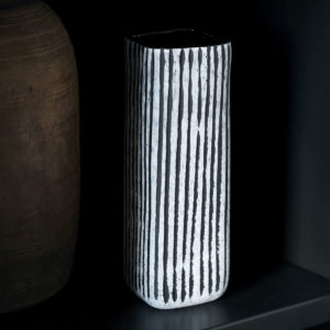 Curious Egg Singa Striped Vase lifestyle image
