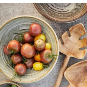 stoneware bowl with vegetable