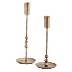 Curious Egg Siena Hand Forged Candlestick Set